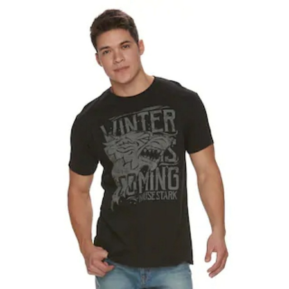 8dfe888d Shirts | Game Of Thrones Winter Is Coming House Stark Tee | Poshmark